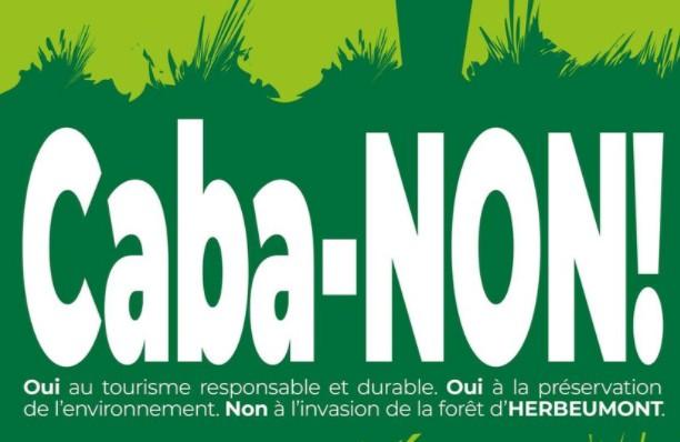 Ecrire Caba-NON! avec des troncs d'arbre