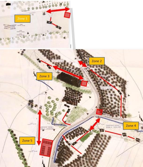 Plan des zones Boulois