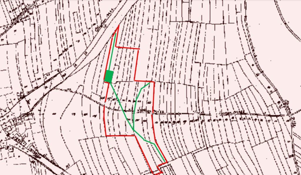 Routes en vert sur le Pasai Michî